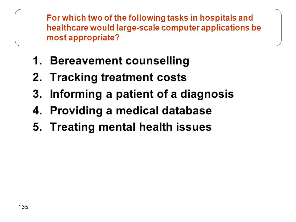 Bereavement counselling Tracking treatment costs