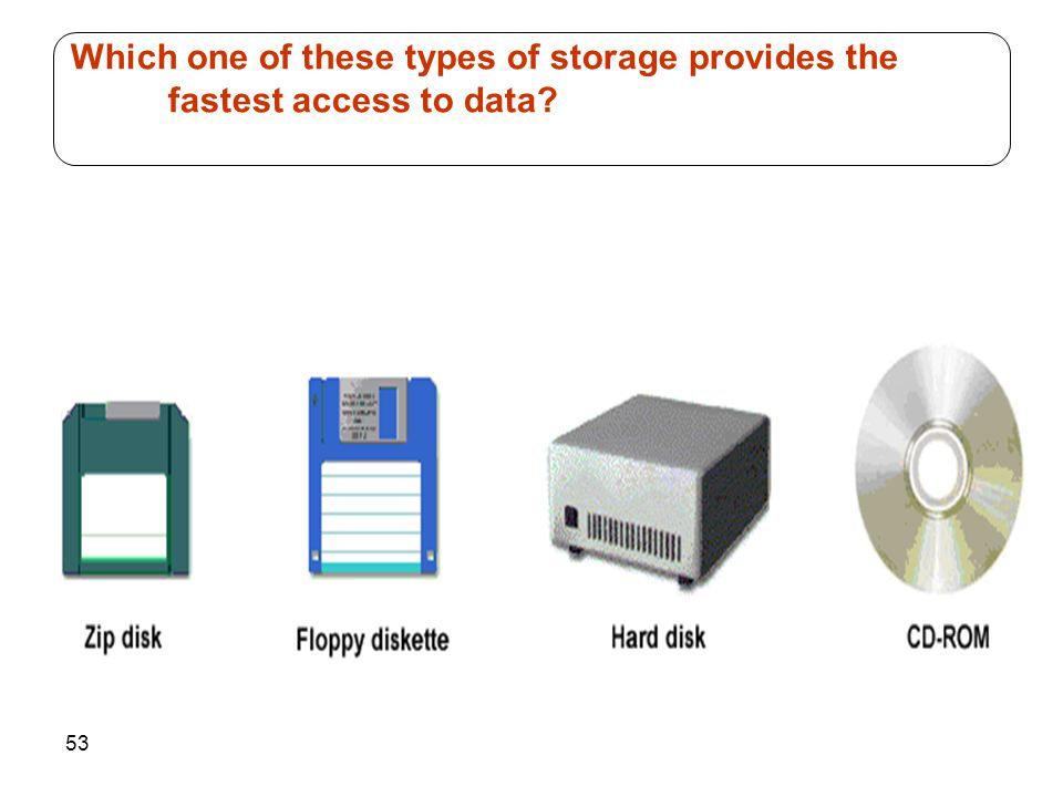 Which one of these types of storage provides the fastest access to data