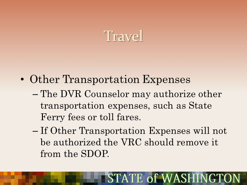 Travel Other Transportation Expenses