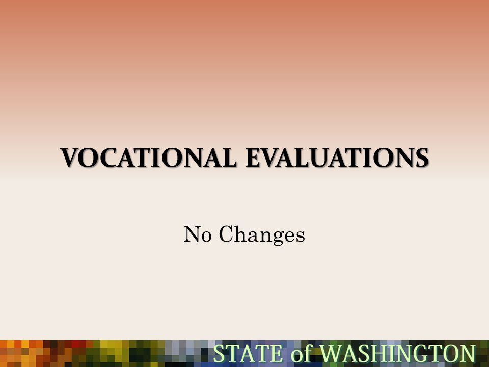 Vocational Evaluations