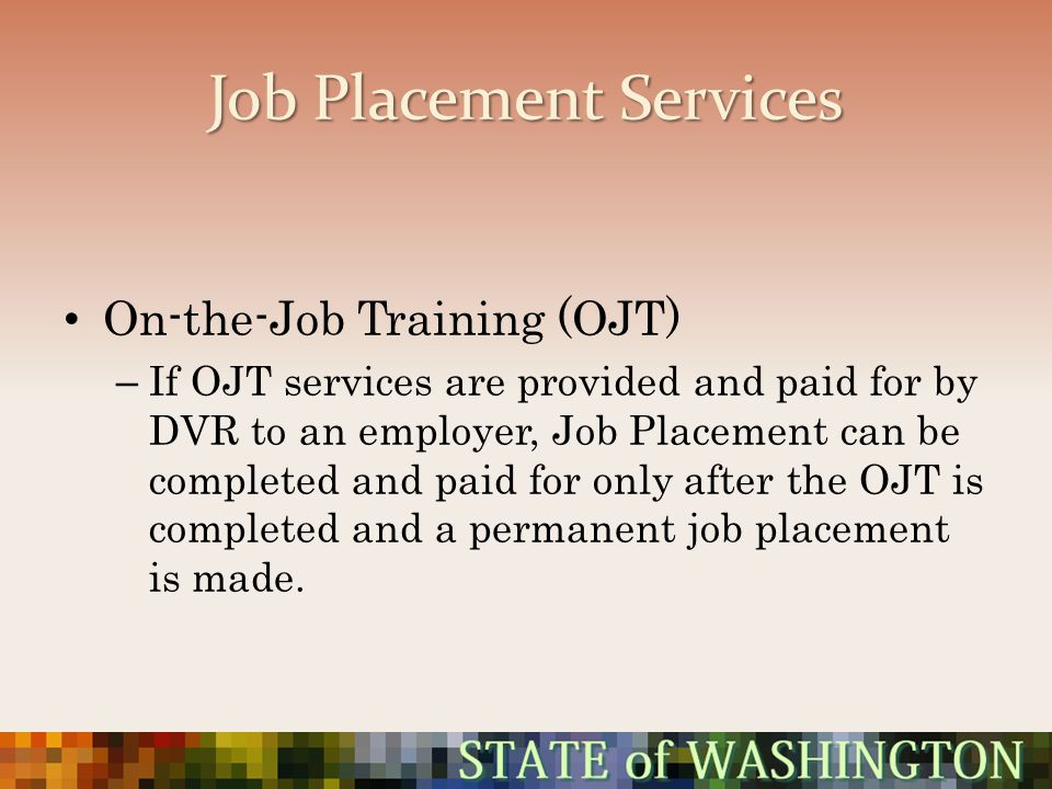 Job Placement Services