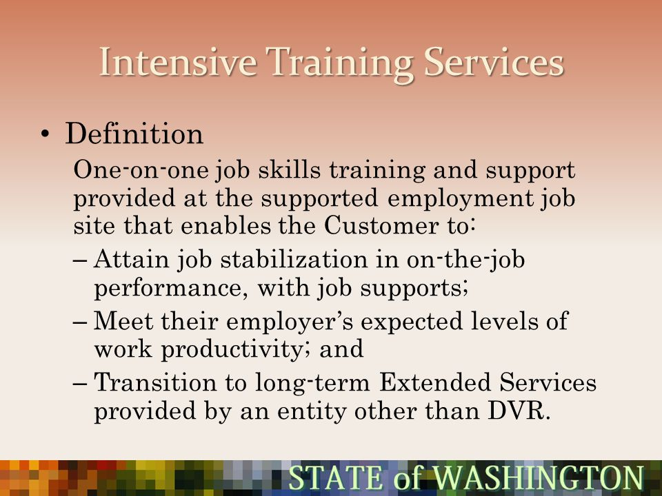 Intensive Training Services
