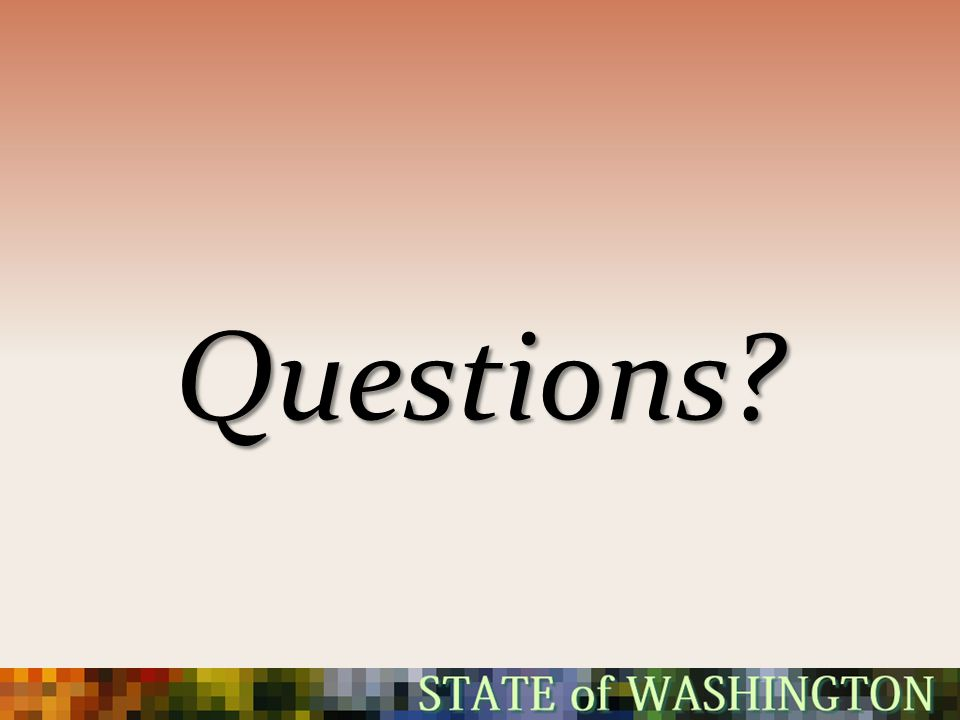 Questions 4/16/2012 Silverdale –