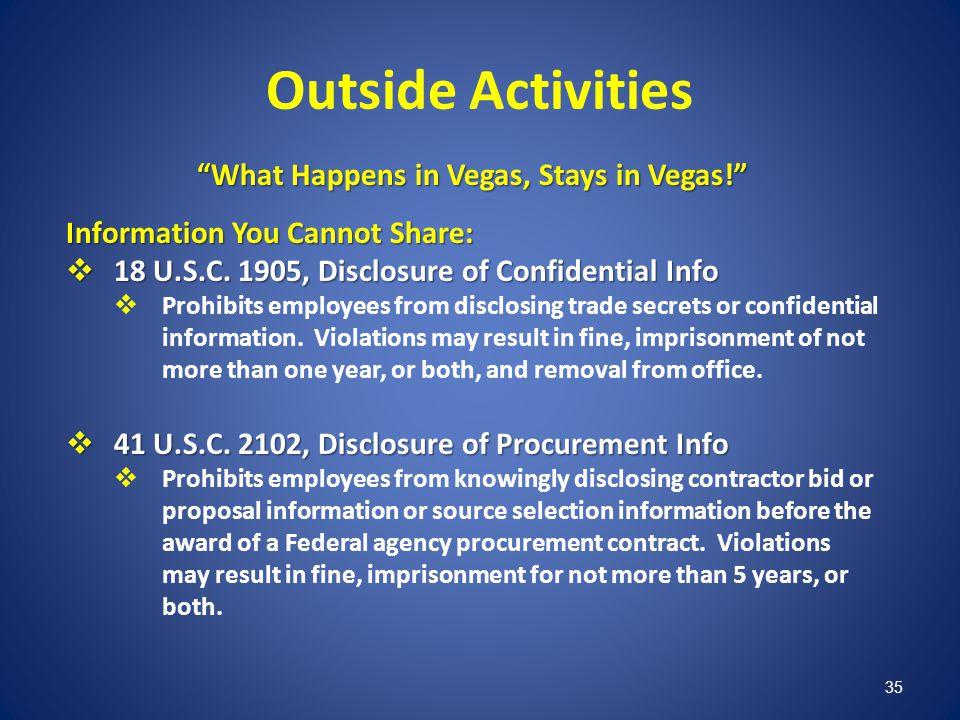 What Happens in Vegas, Stays in Vegas!