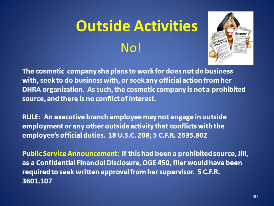 Outside Activities No!
