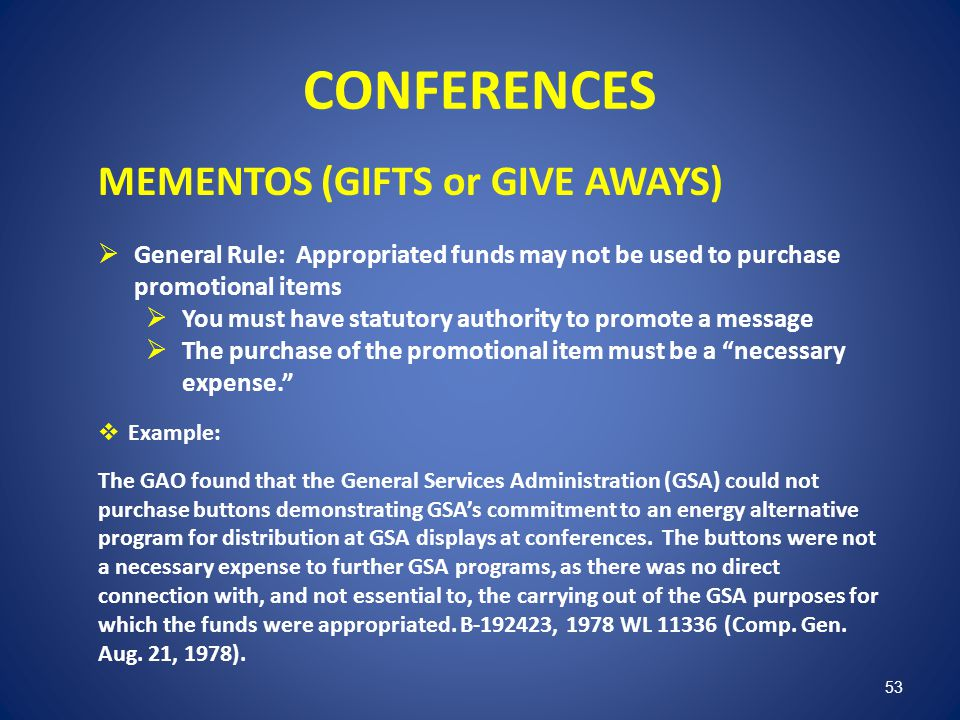 CONFERENCES MEMENTOS (GIFTS or GIVE AWAYS)