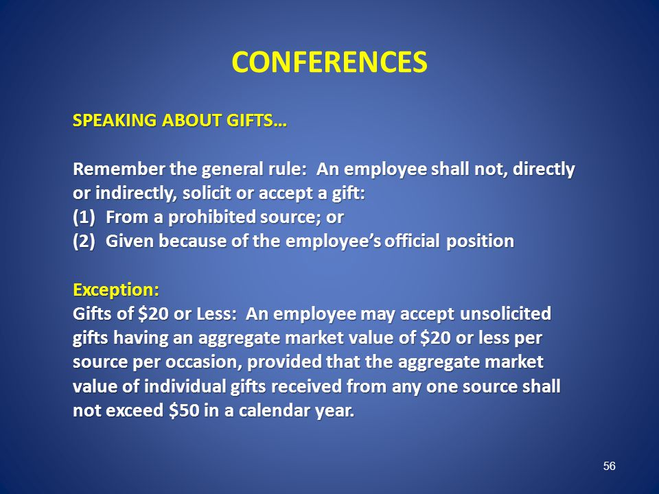 CONFERENCES SPEAKING ABOUT GIFTS…