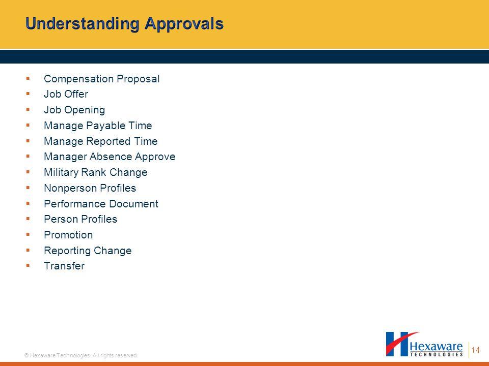 Understanding Approvals