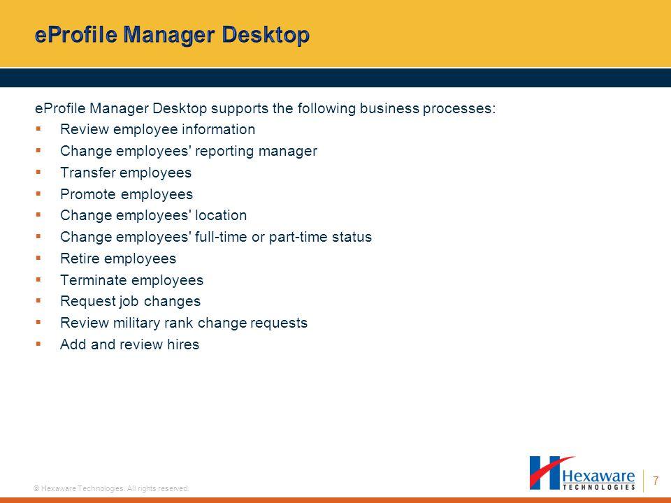 eProfile Manager Desktop