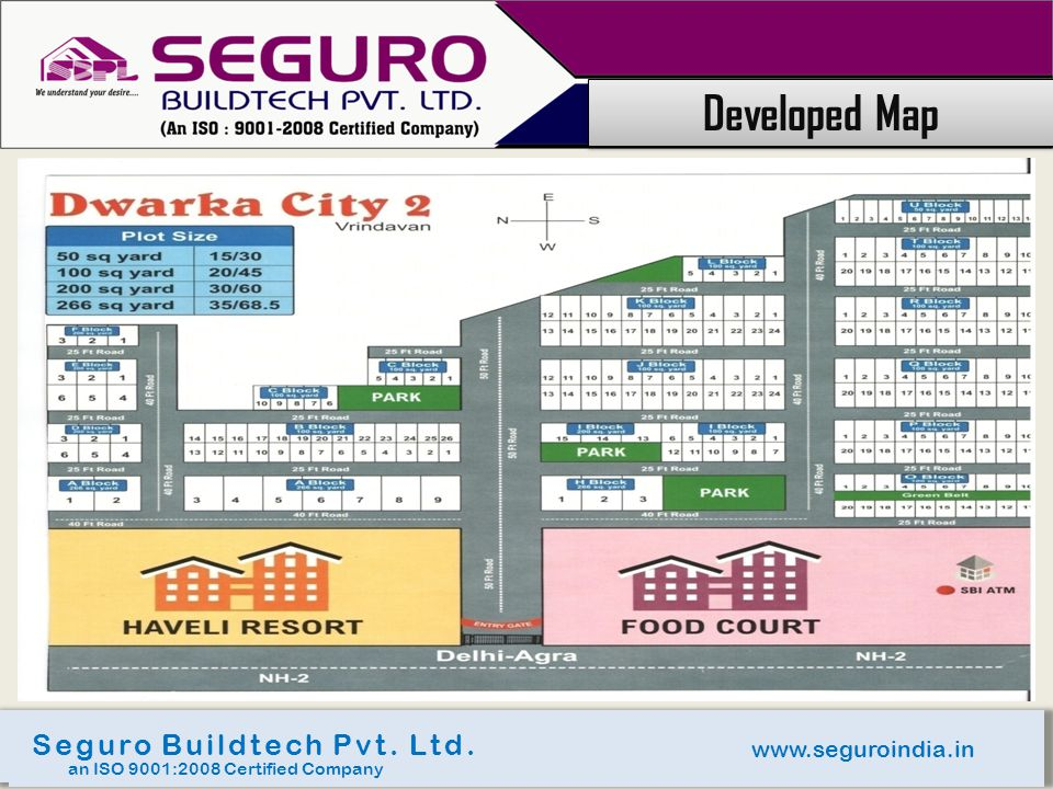 Developed Map Seguro Buildtech Pvt. Ltd. www.seguroindia.in