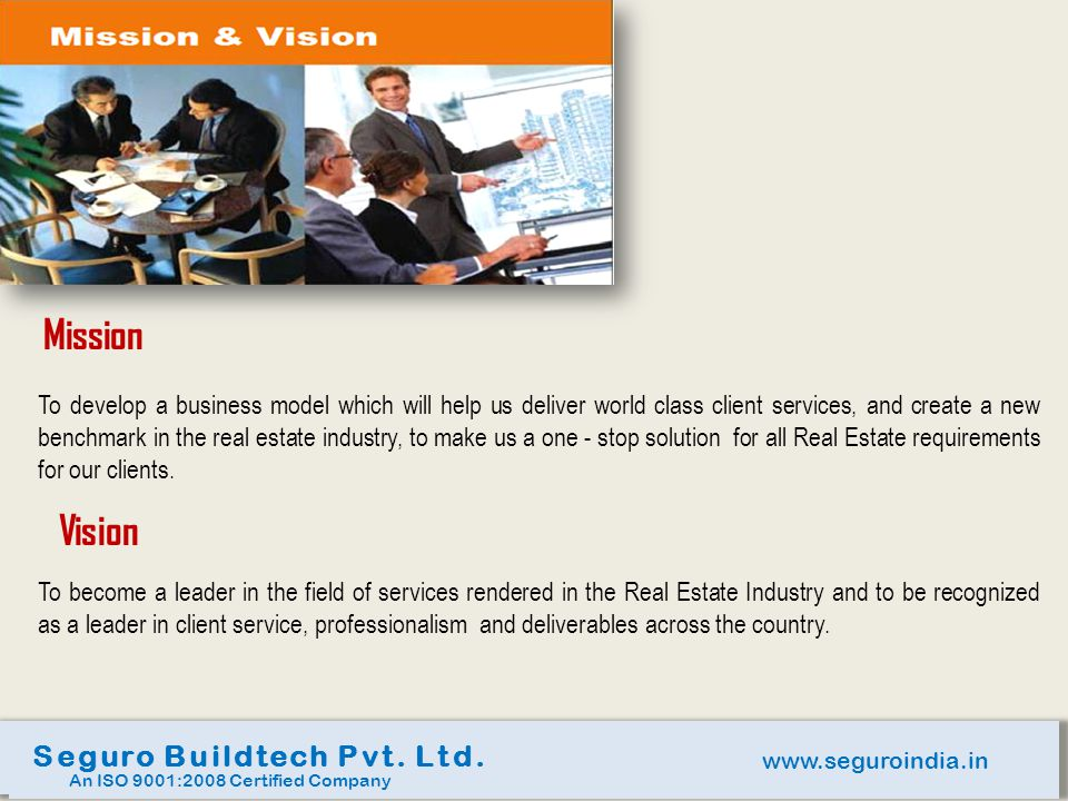 Mission Vision Seguro Buildtech Pvt. Ltd.