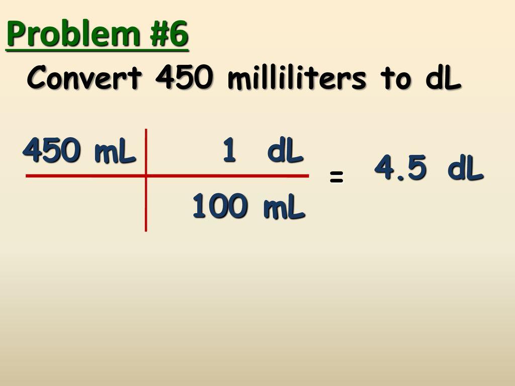 1dl i ml
