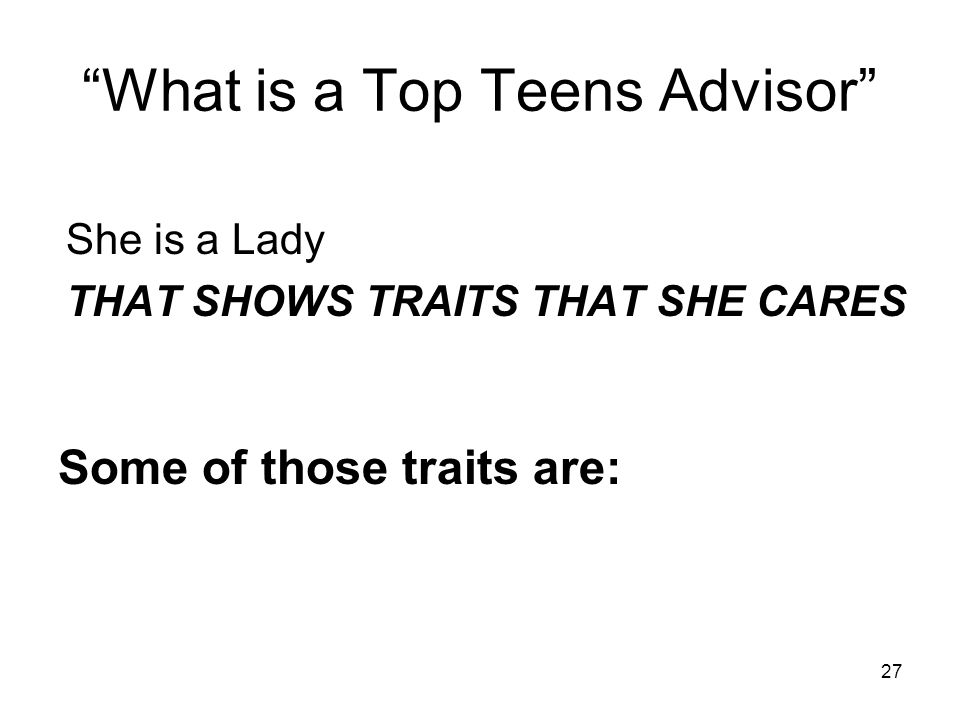 What is a Top Teens Advisor