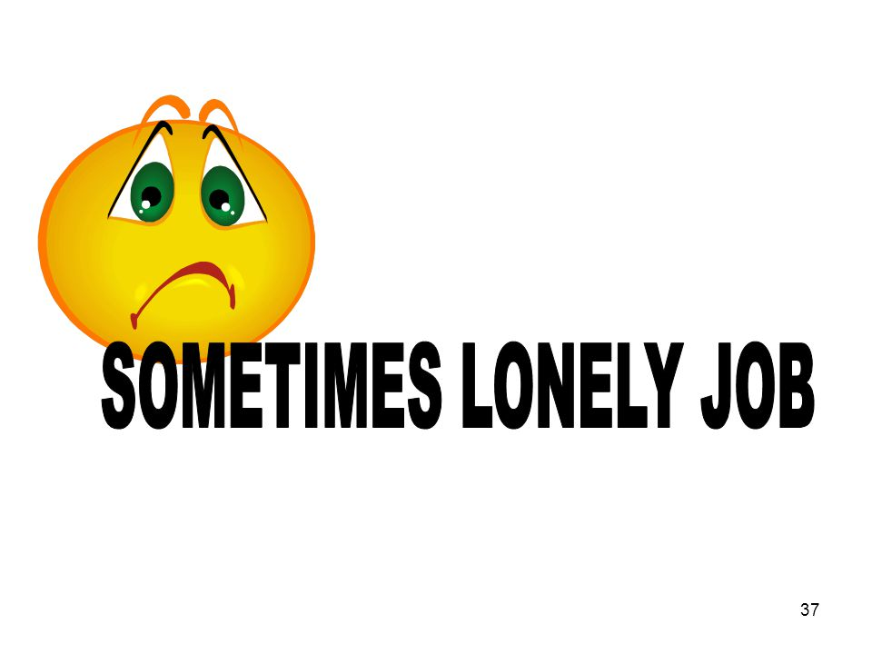 SOMETIMES LONELY JOB