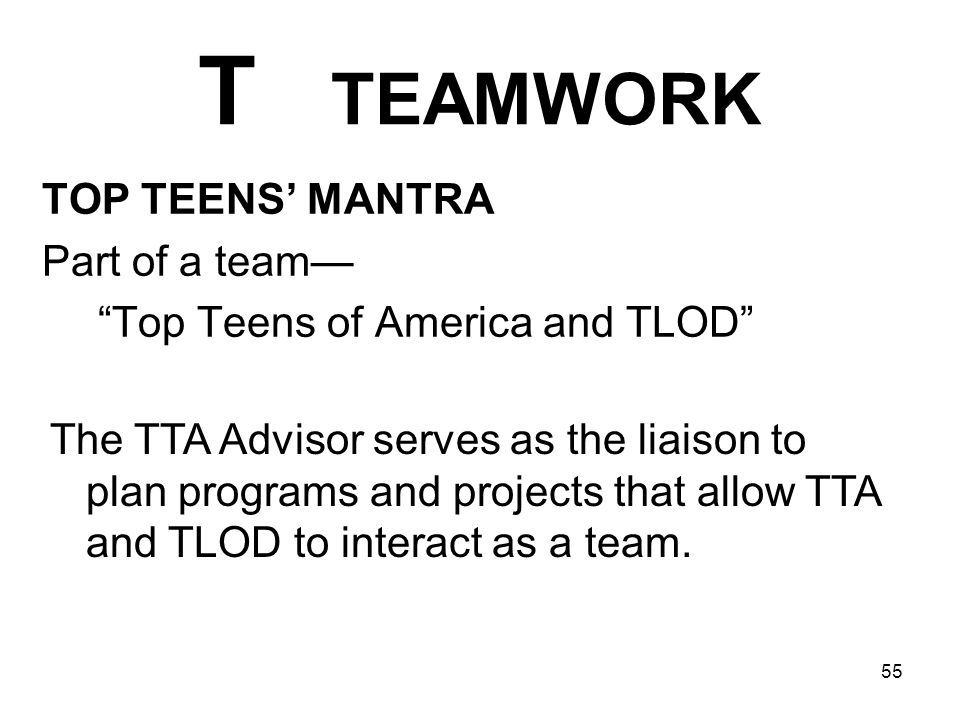 Top Teens of America and TLOD