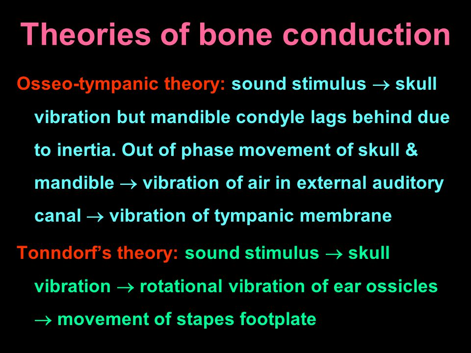 Theories of bone conduction
