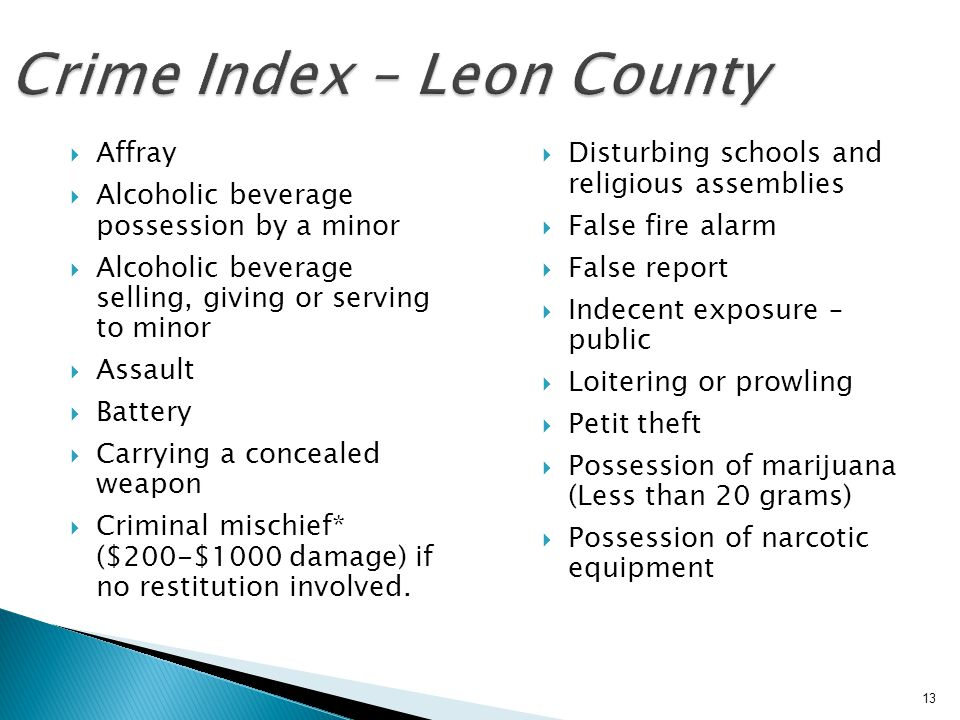 Crime Index – Leon County