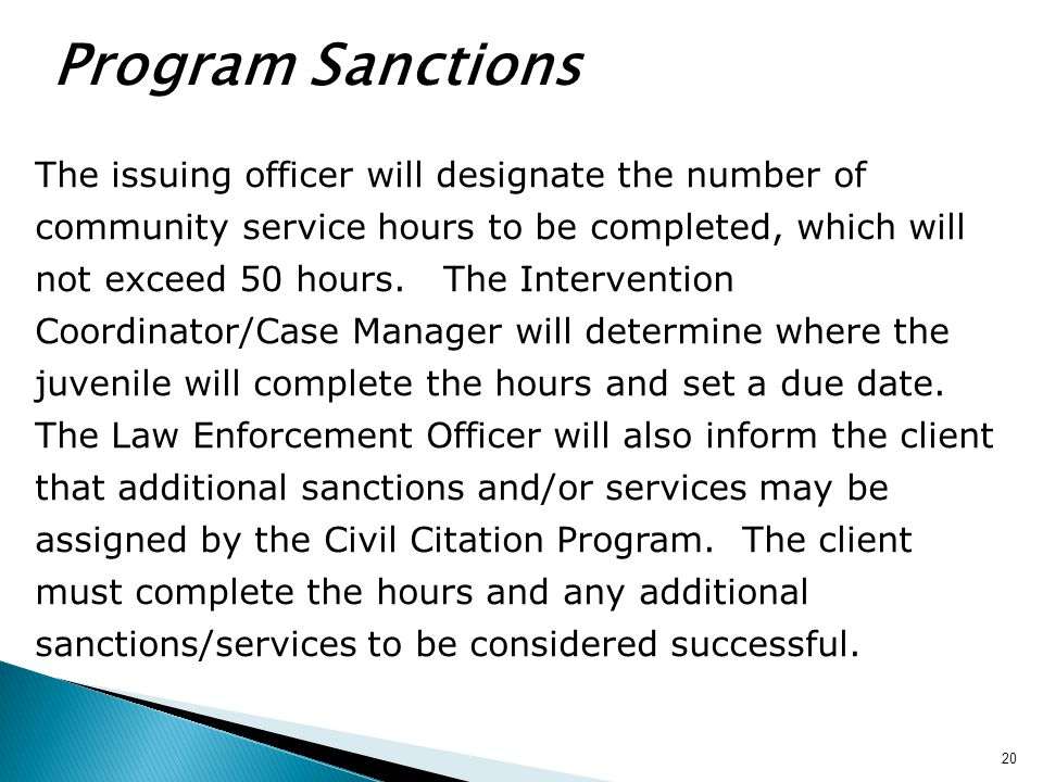 Program Sanctions
