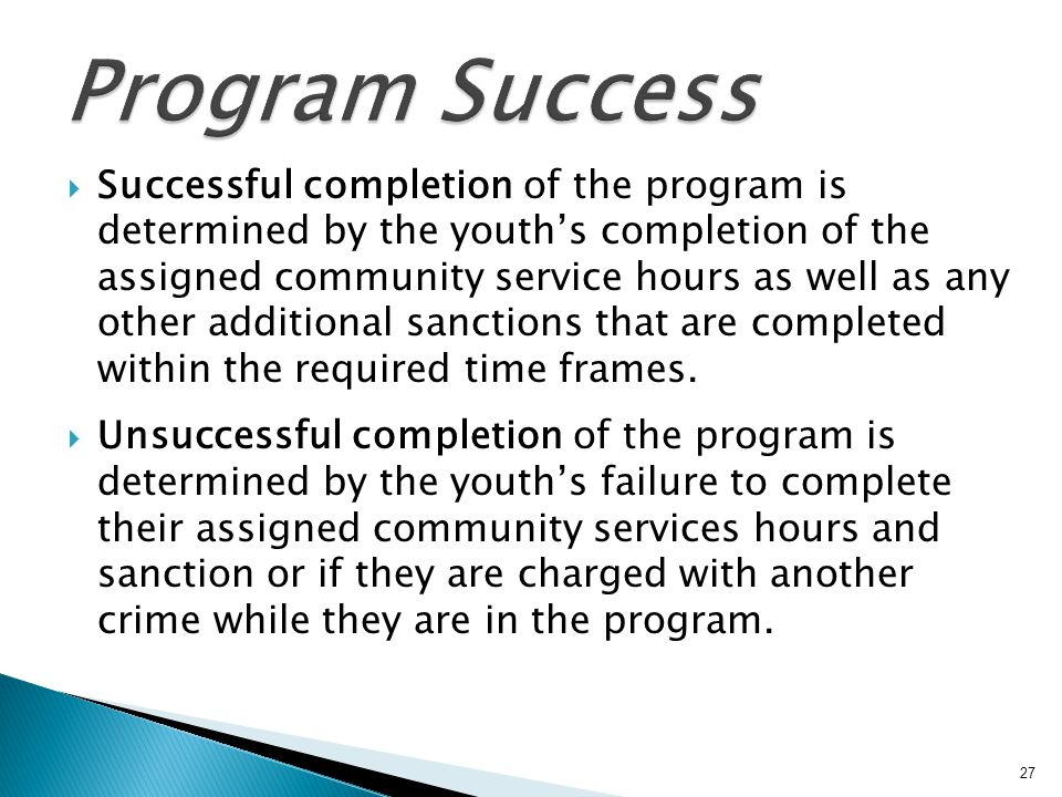 Program Success