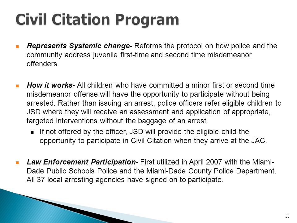 Civil Citation Program