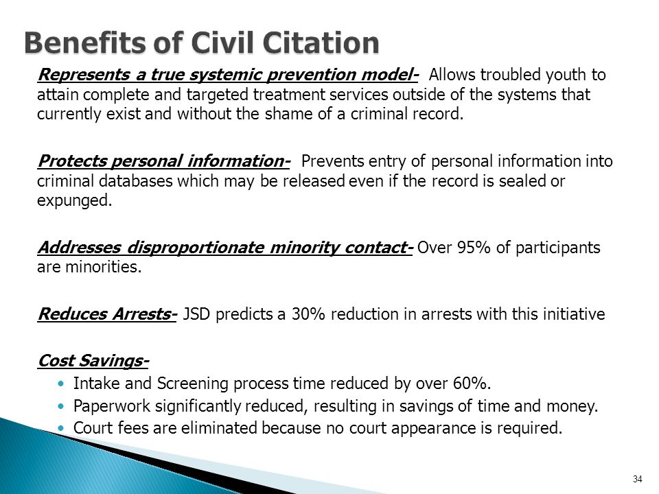 Benefits of Civil Citation