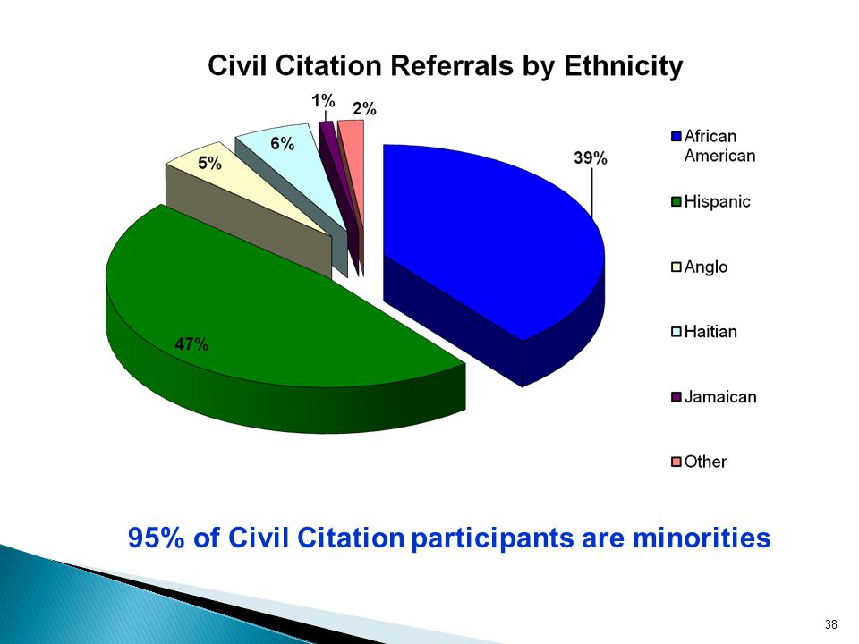95% of Civil Citation participants are minorities