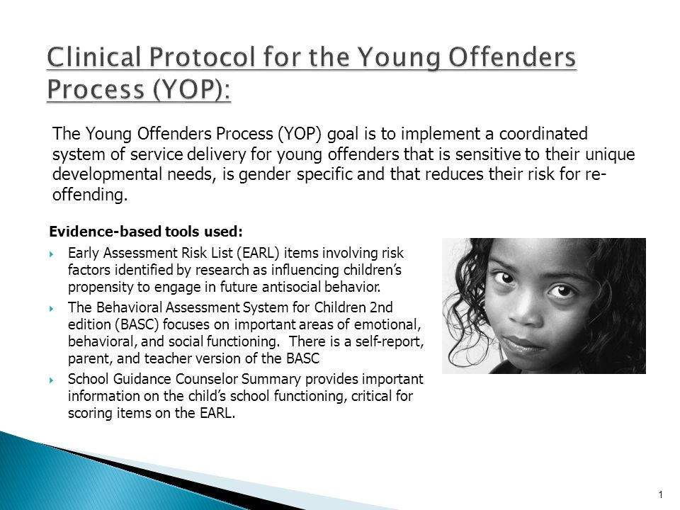 Clinical Protocol for the Young Offenders Process (YOP):