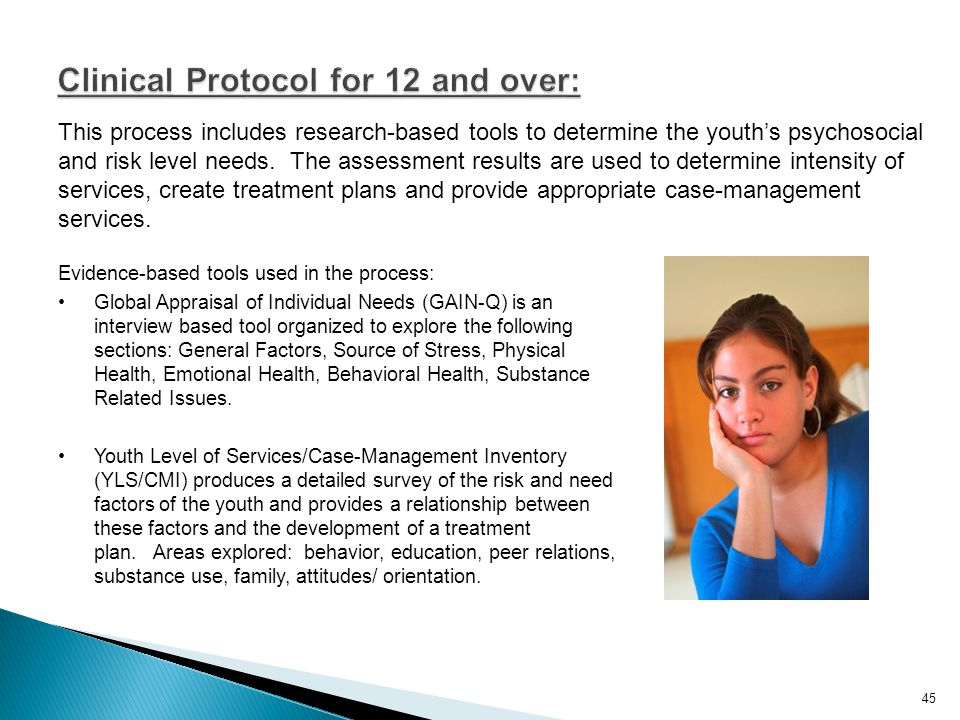 Clinical Protocol for 12 and over:
