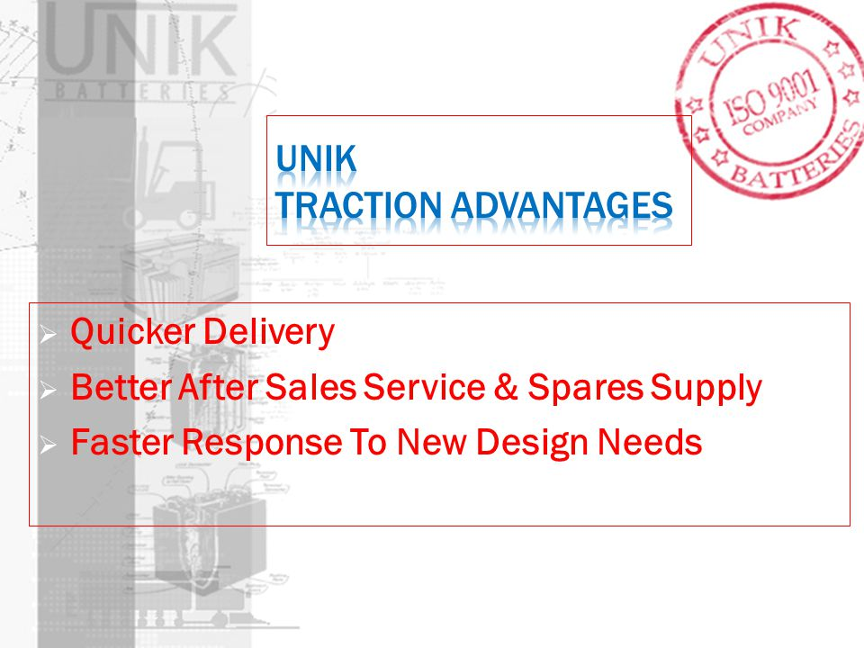 UNIK Traction Advantages