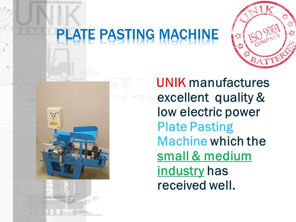 Plate pasting machine