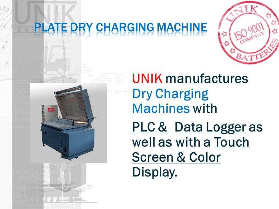 Plate dry charging machine