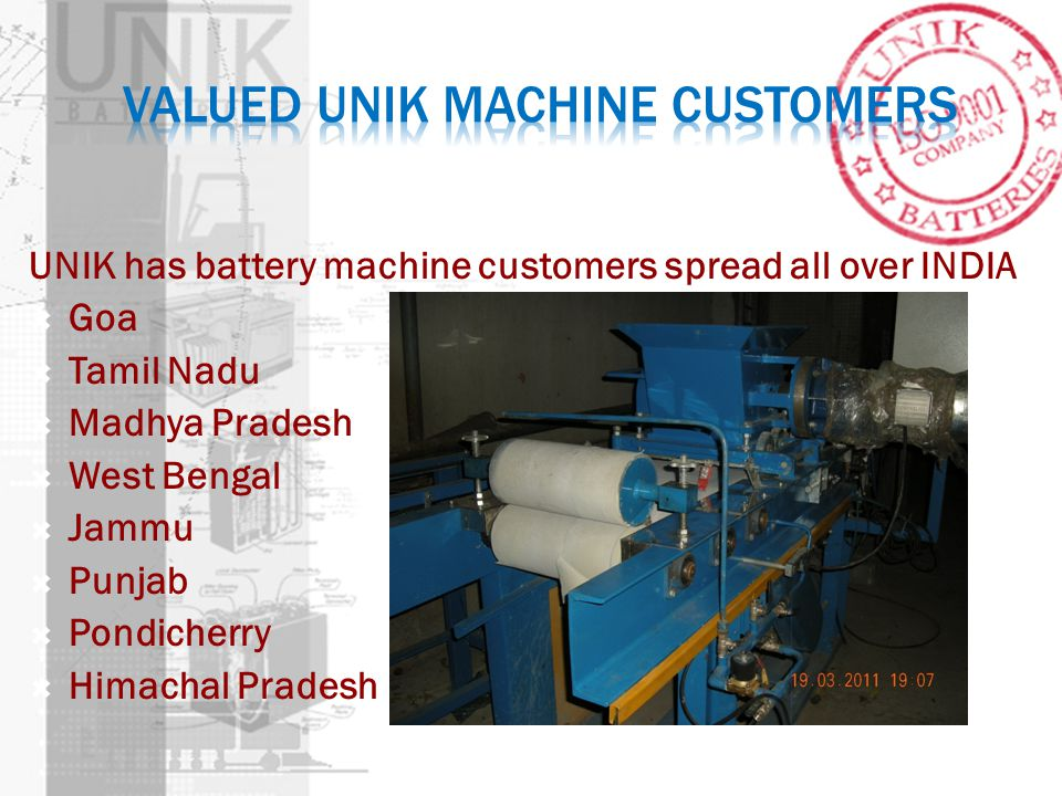 Valued UNIK MACHINE Customers