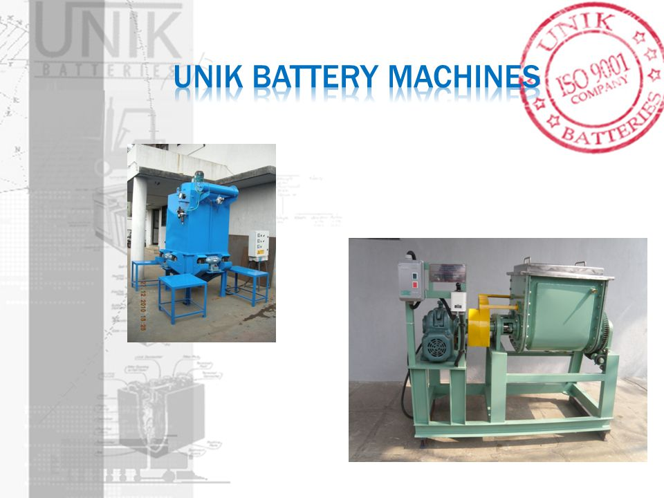 UNIK Battery machines