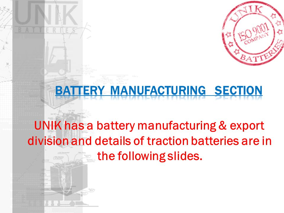 Battery manufacturing section