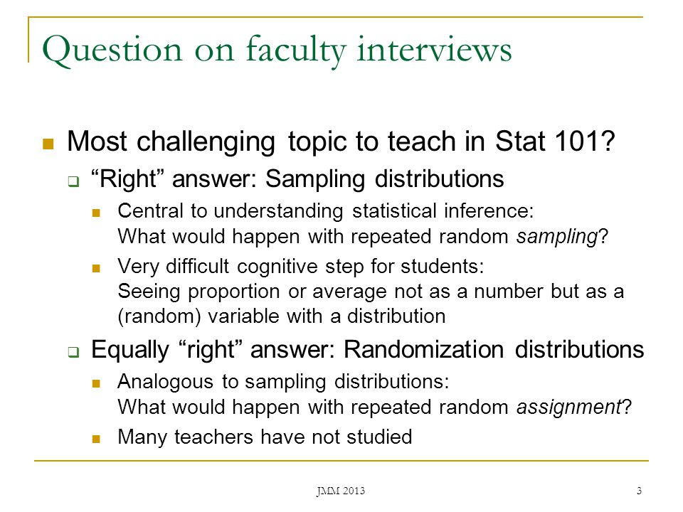 Question on faculty interviews