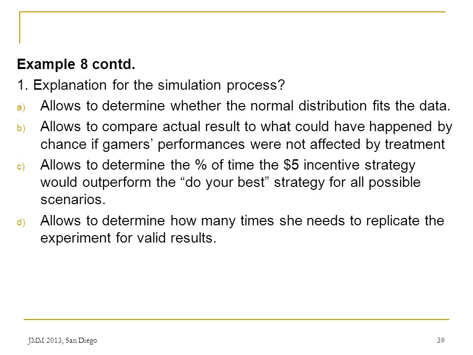 1. Explanation for the simulation process