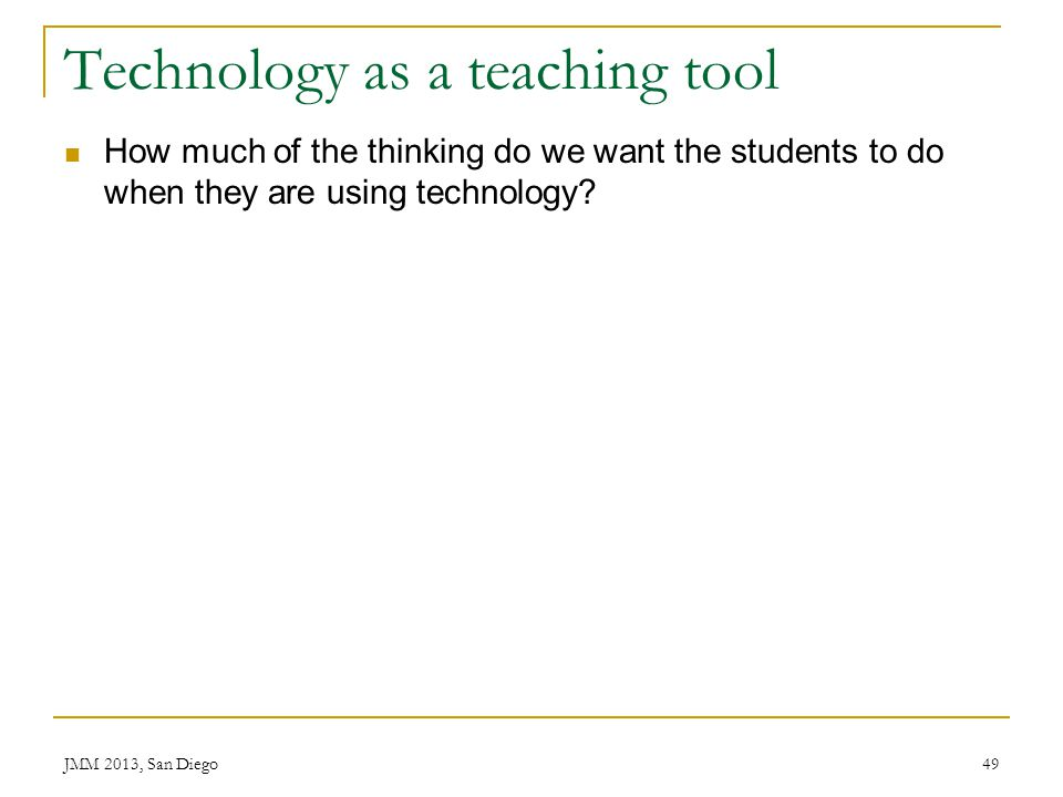 Technology as a teaching tool