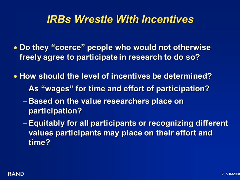 IRBs Wrestle With Incentives