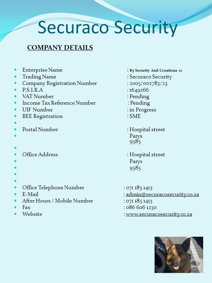 Securaco Security COMPANY DETAILS