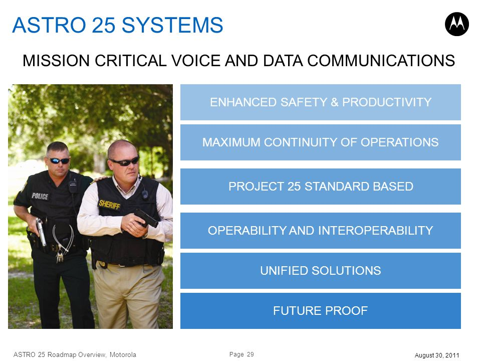 ASTRO 25 SYSTEMS MISSION CRITICAL VOICE AND DATA COMMUNICATIONS
