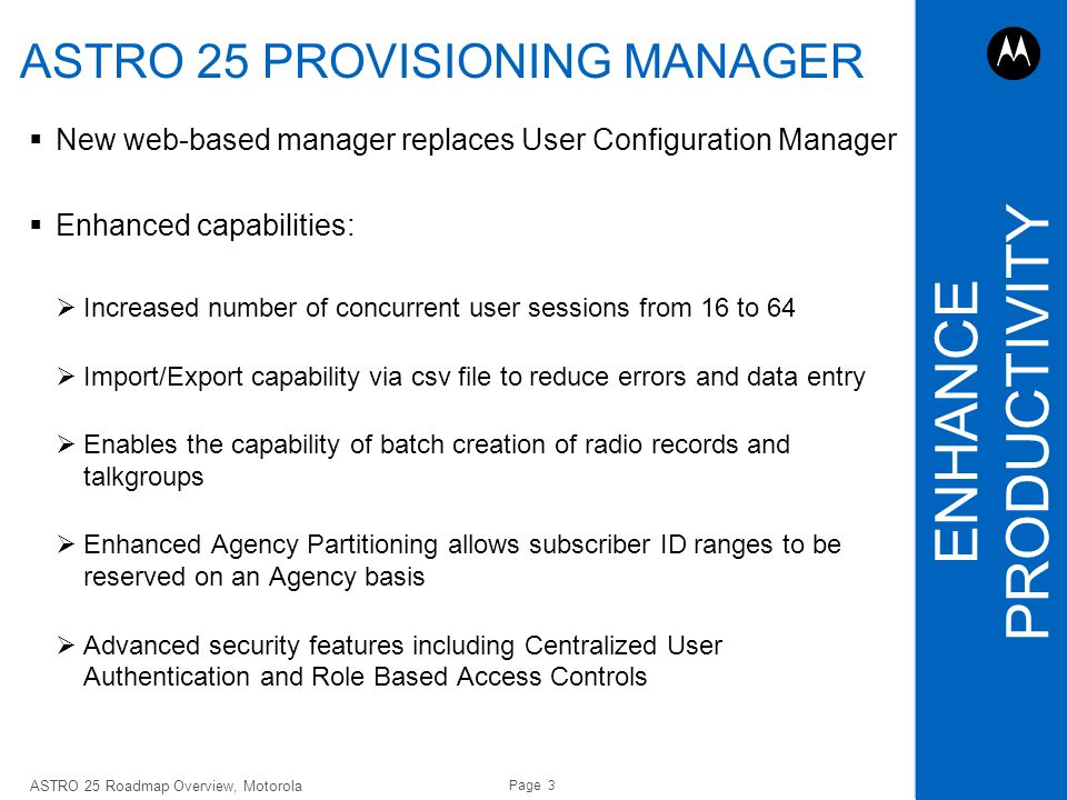ASTRO 25 PROVISIONING MANAGER