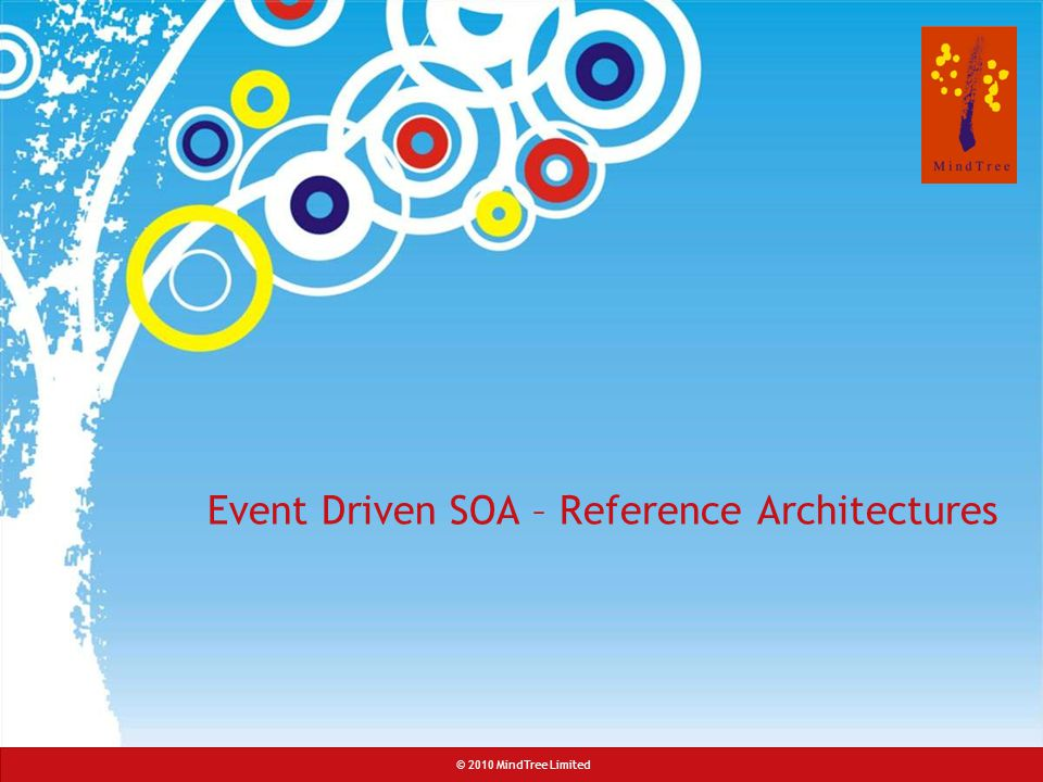 Event Driven SOA – Reference Architectures