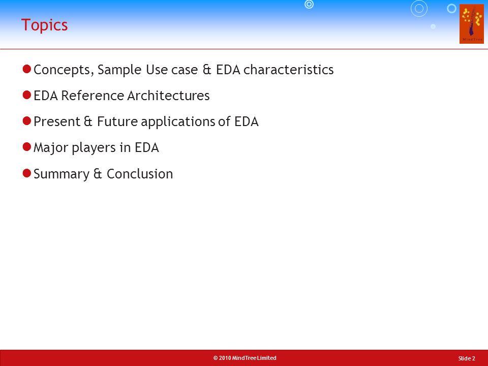 Topics Concepts, Sample Use case & EDA characteristics