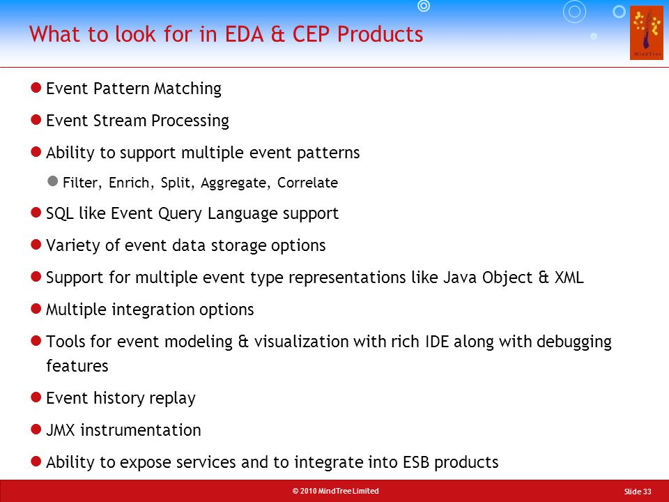 What to look for in EDA & CEP Products