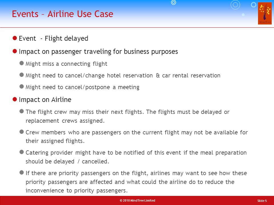 Events – Airline Use Case