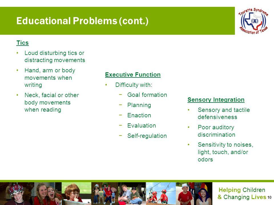 Educational Problems (cont.)