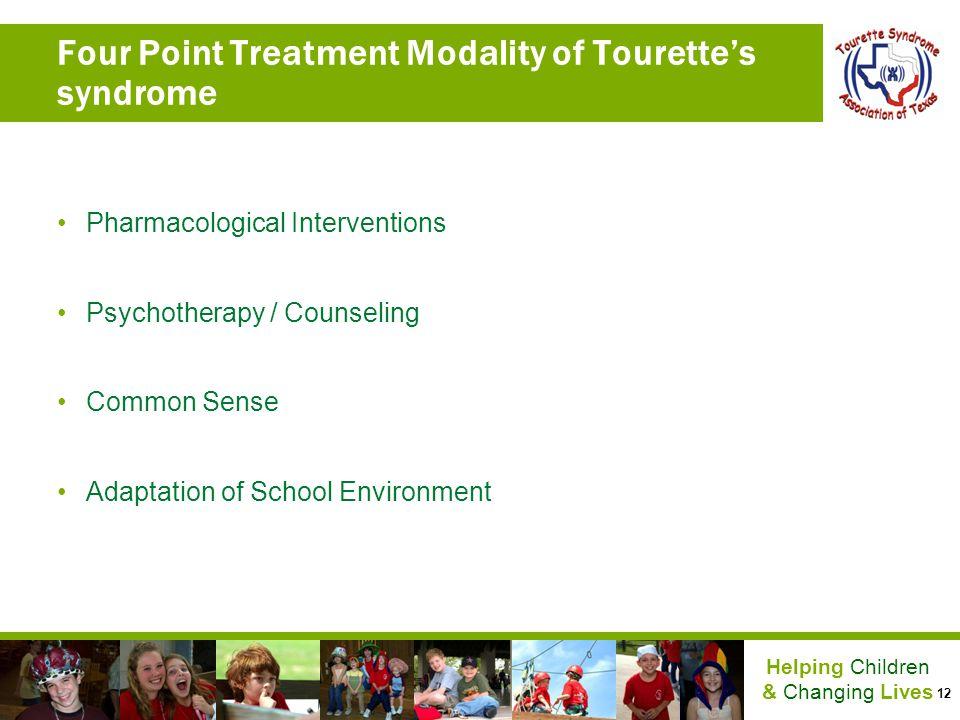 Four Point Treatment Modality of Tourette's syndrome