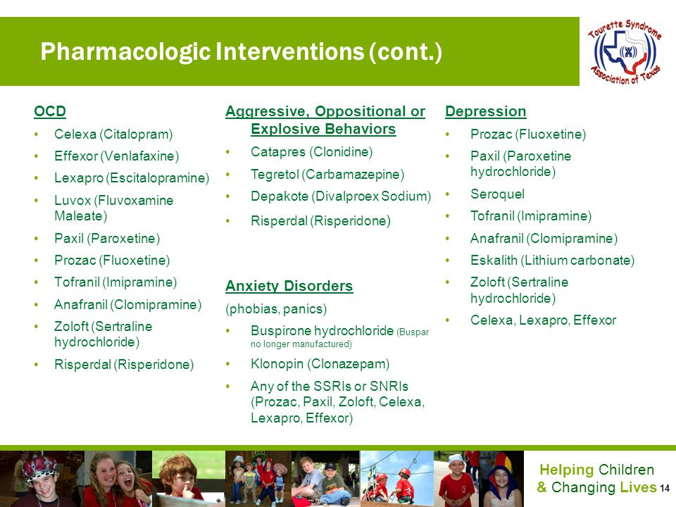 Pharmacologic Interventions (cont.)