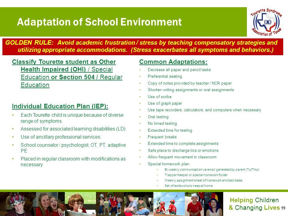Adaptation of School Environment