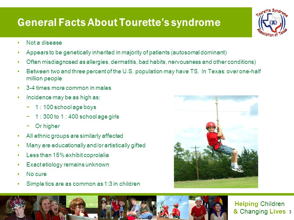 General Facts About Tourette's syndrome